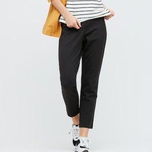 WOMEN PONTE SLIM PANTS - BLACK